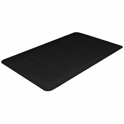 "Crown #550 3' x 5' x 7/8"" Black Workers-Delight™ Deck Plate Anti-Fatigue Mat"