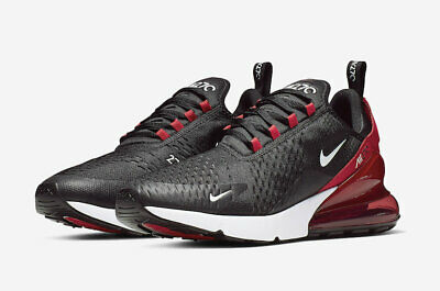 Nike Men's Air Max 270 Bred Black White University Red Anthracite AH8050-022