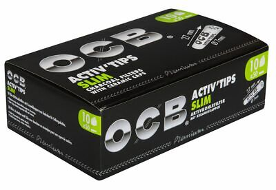 OCB Activ Tips Slim Aktivkohle-Filter Drehfilter - 7mm 10 x 50 (500) STK - NEU
