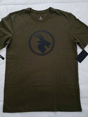 ec9e9f029607 Nike Air Jordan Greatest Logo T-shirt NWT Mens Medium Olive Black JSW BV7454