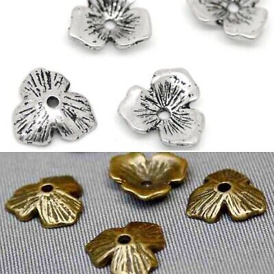 pack of 30 Three Leaves Bead Caps jewellery making supplies