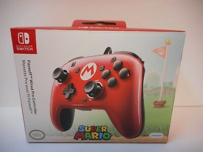 PDP Faceoff Wired Mario Pro Controller For The Nintendo Switch *NEW*