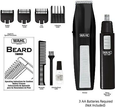 Personal Groomer Hair Trimmer Kit Ear Nose Shaver Rechargeable Cordless Razor