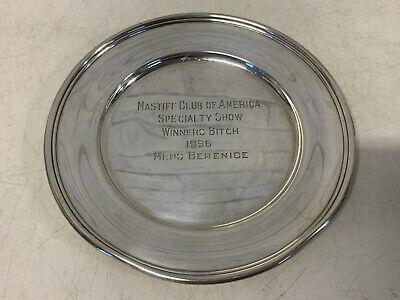 Randahl Sterling Silver Mastiff Club of America 1956 Specialty Dog Show Winner