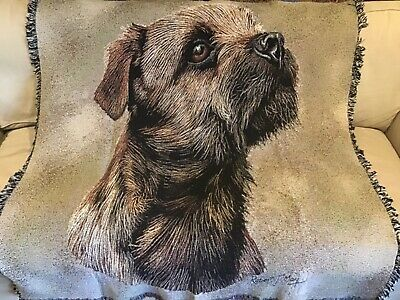 PURE COUNTRY Border Terrier throw blanket LS1139 by Robert May