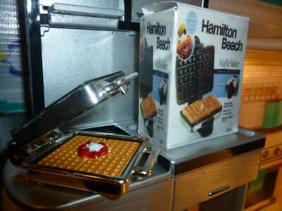 Barbie Doll Size X  Dollhouse Kitchen Accessories- Miniature Waffle Iron