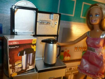 Barbie Doll Size X  Dollhouse Kitchen Accessories- Miniature Coffee Thermo