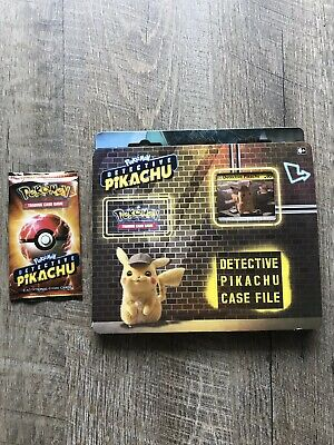 Pokemon TCG Detective Pikachu Case File & 1 Movie Pack + 1 Promo Sticker