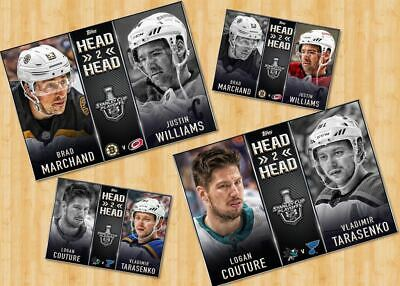 2019 HEAD TO HEAD BASE CONFERENCE FINALS SET OF 4 CARDS Topps NHL Skate Digital