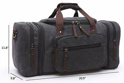 New Canvas Men Women Travel Bag Tote Handbag Luggage Duffle Weekend Overnight