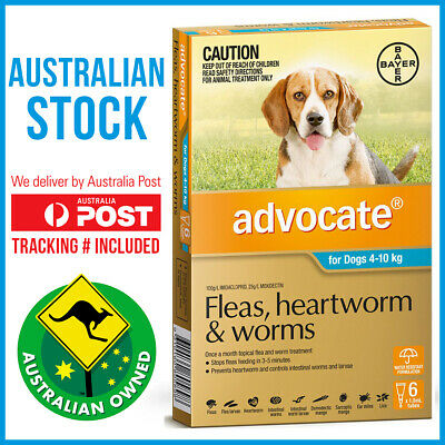 Advocate Flea & Worm Control for Dogs 4-10kg - 6 Pack
