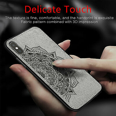 Slim Fabric Texture Soft Shockproof Case Cover For iPhone XS Max XR X 8 7 6 Plus