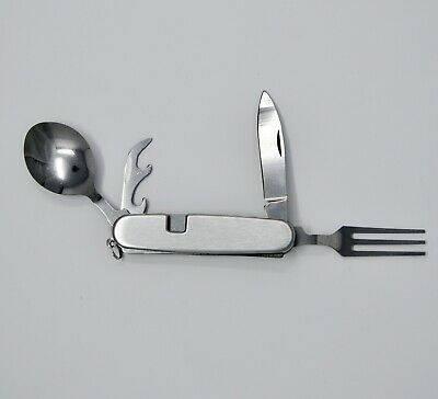 Fork Spoon Knife Camper Tool:Lightweight/Dishwasher OK/Stainless Steel US Stock