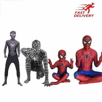 Corps de Spiderman costume super-héros Cosplay Costume enfants / adultes fête FR