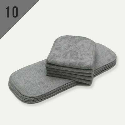 10/Pack Bamboo Charcoal Inserts for One Size Cloth Diaper Less Odor Absorbent