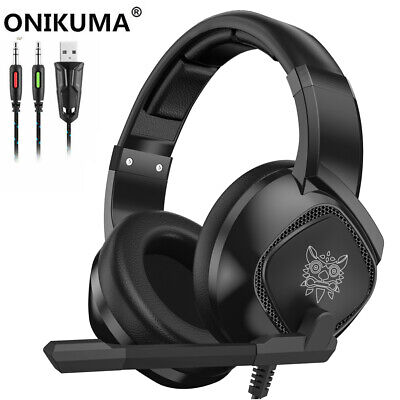 ONIKUMA K19 Mic Stereo Bass Surround Gaming Headset for PC Laptop PS4 Xbox One