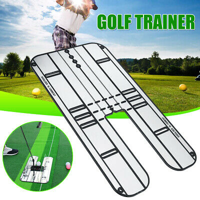 2 Size Golf Putting Mirror Rail Alignment Practice Training Aid Tool Eye Line