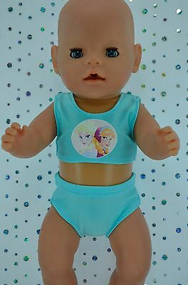 "Play n Wear Doll Clothes For 17"" Baby Born AQUA SWIMMING BIKINI"