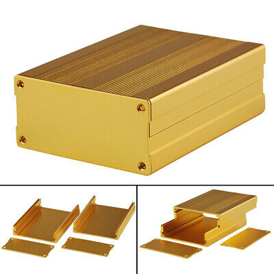 Gold Aluminum Box Circuit Board Enclosure Case Electronic Project 100x76x35mm