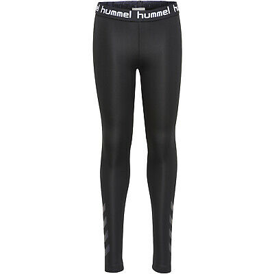 hummel Tona Tights Kinder Leggings Fitnesshose Leggins schwarz 202886