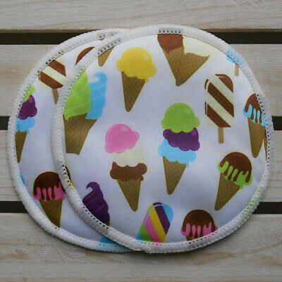 Reusable Washable Breast Pads - Ice Cream style - Set of 3 Pairs