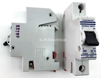 Dorman Smith 32 Amp Type 2/B 32A Single Pole Phase Mcb Circuit Breaker Llr 32T2