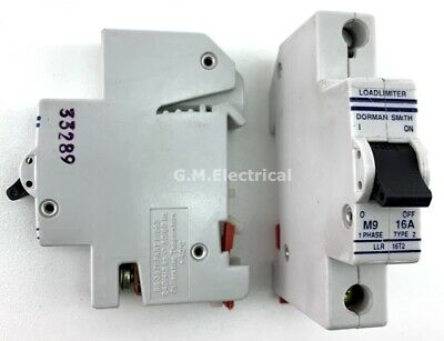 Dorman Smith 16 Amp Type 2/B 16A Single Pole Phase Mcb Circuit Breaker Llr 16T2
