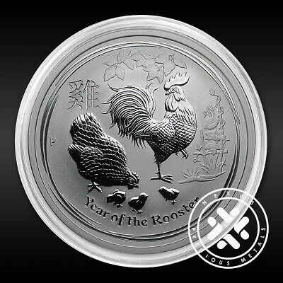 2017 Australian 1/2 oz Silver Coin Year of The Rooster In Capsule FREE Shipping