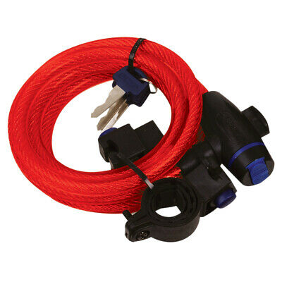 Oxford Motorcycle Bike Scooter Cycle Cable Lock 12mm x 1800mm Red OF249
