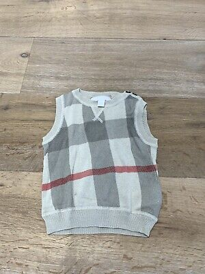 Burberry Classic Baby Boy Vest kids childen boys