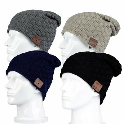 Soft Wireless Bluetooth 4.2 Smart Beanie Hat Headset Headphone Speaker LOT PT