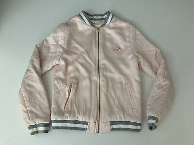 Chloe Satin Bomber Jacket Coat Size Age 12 Year Dust Pink Gc