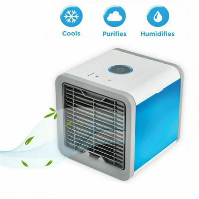 Portable Mini Air Conditioner Cool Cooling For Bedroom Cooler Fan Multicolor LED