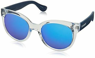 great look superior quality picked up HAVAIANAS WOMEN'S NORONHA/M Round Sunglasses, CRY Blue, 52 ...