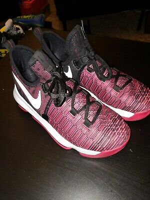 c98ea626f Nike Zoom KD 9 (GS) Basketball Shoes Red Black 855908-610 Youth Size