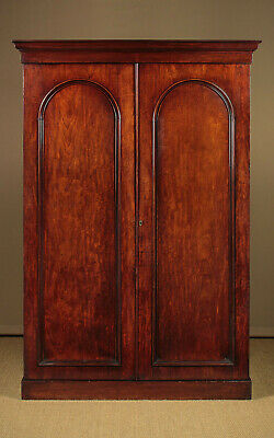 Antique Mahogany Combination Wardrobe by John Taylor & Son Edinburgh c.1860.
