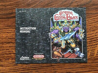 Conquest of the Crystal Palace NES Nintendo Instruction Manual Only