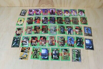 42 x Vintage 1994/1995 Saban Power Rangers Trading Playing Cards The New Season