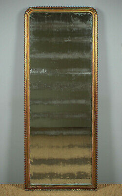 Antique Tall Giltwood Pier Glass or Dressing Mirror c.1880.