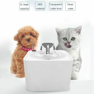 Pet Automatic Drinking Water Fountain Bowl Dish Dispenser Filters Dogs Cats Usb
