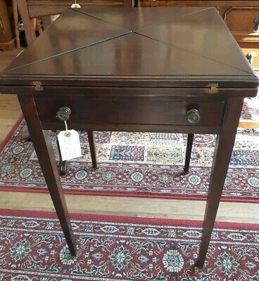 A Quality Victorian Mahogany Envelope Card Table
