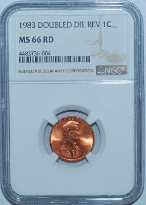 1983 NGC MS66RD FS-801 Red DDR Double Doubled Die Reverse Lincoln Cent