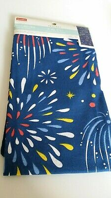 DAISO Japanese Traditional Thin Cloth TENUGUI  Fire works  navy