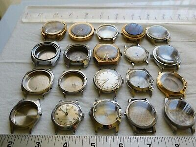 A1 VINTAGE USED Men's Watch Case Parts Lot Repair SteamPunk Art Craft