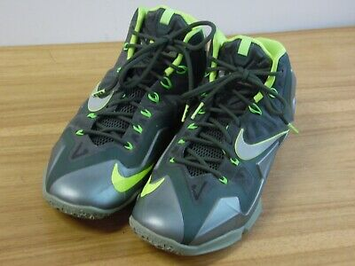 san francisco 3db35 a389e Nike Lebron 11 XI Dunkman Green Volt Basketball Shoes 616175-300 Men s Size  10