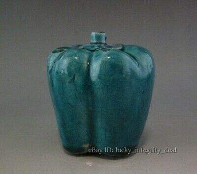 Old Chinese Green Glaze Porcelain Chili Water Dripper Water Dropper