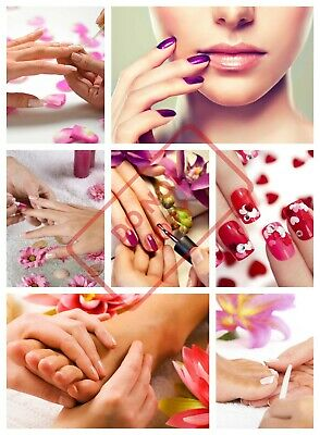 Salon Spa Health Beauty Manicure Nails Collage Poster Print Laminated Options