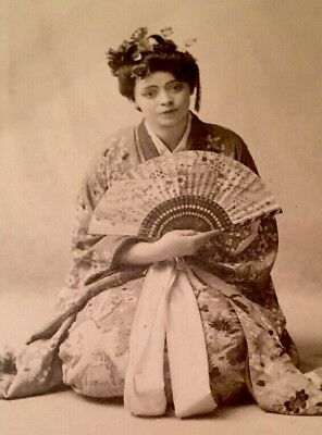 VALERIE BERGERE FRENCH ACTRESS As Madame Butterfly Cabinet Card Photo
