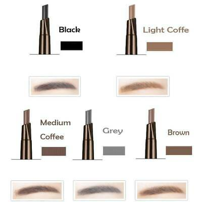 Double Head Eyebrow Pencil with Brush Waterproof Eye Brow Pencil Long Lasting