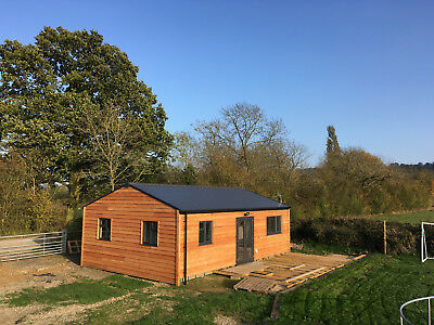 LOG CABIN . 2 BEDS,SELF CONTAINED. 9M x 6M. £925M2.     PART 2 OF 2